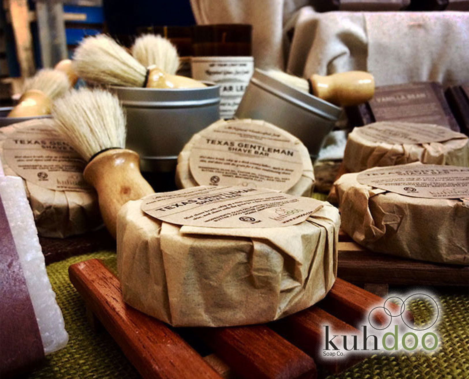 "Kuhdoo Soap Co.  ""MAKING SOAP IS A FUN FAMILY AFFAIR"" Hi! We're the Mangums. Jared, Kaysha, and Isaac. Making soap is a fun family affair for us, just on a whole different scale these days."